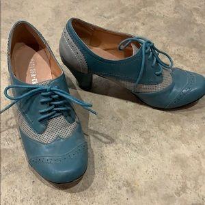 Chelsea Crew spectator heels dusty blue retro